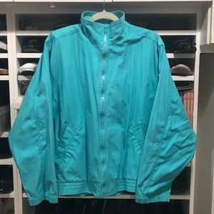Koret Francisca Track Jacket size XL Teal Blue